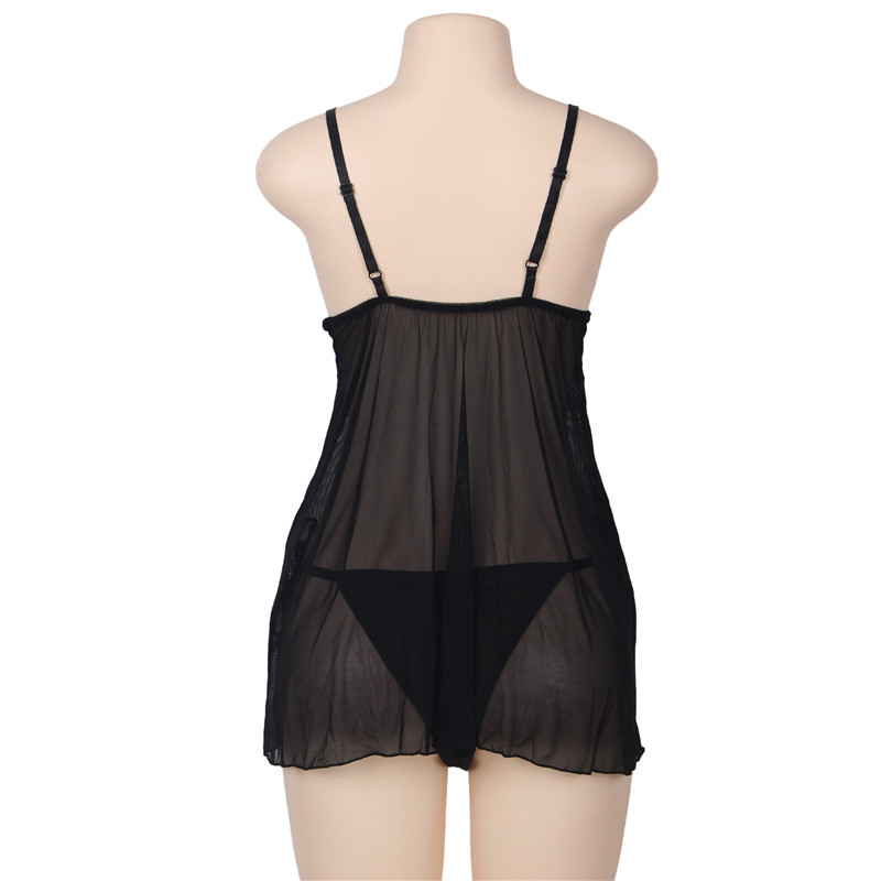 Free Shipping Plus Size 5XL Sexy Lingerie Costumes Women Nighty Lady Chemise Erotic Dress G-string Babydoll Hot Erotic Underwear