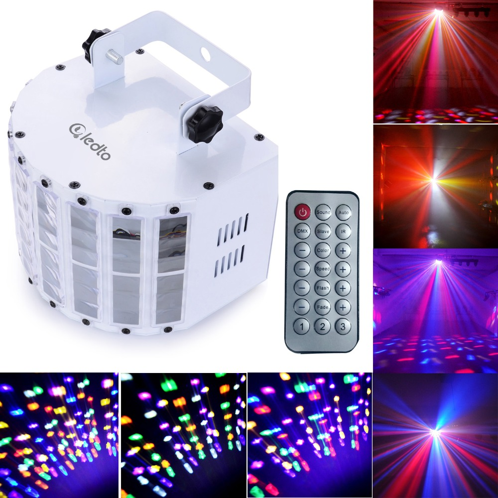 Sound-activated Auto 30W DMX512 RGBW Led Stage Strobe Light With Remote Controller KTV Disco Bar Light for Party DJ Disco    <br>