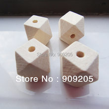 SANSHOOR DIY 20mm Octagon Wooden Beads Geometric Wooden Accessories Jewerly For Diy  50pcs SMT-115J