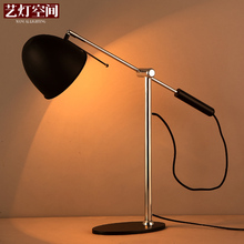 Loft Style Vintage Bedside / Bedroom / Study Lamp Wrought Iron Double Rocker Arm Table Lamp Coffee Shop Light Free Shippping(China)