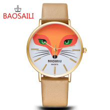 BAOSAILI Cute Fox Kids Clock Baby Dress Relogio Luxury Purple Sport Watches Fashion Girls Gift Unisex Enfant Ceasuri Bayan Saats(China)