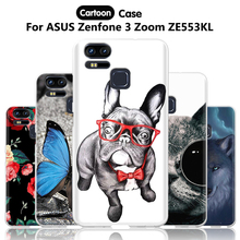 JURCHEN Capa For ASUS Zenfone 3 Zoom ZE553KL Case Cover Cartoon 3D Silicone TPU Soft Case For ASUS Zenfone 3 ZE553KL Case 5.5 30(China)