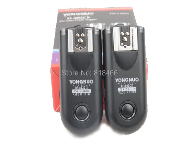 New designed Yongnuo RF-603II C3, RF603 ii RF 603 Flash Trigger 2 Transceivers for canon 5dII 1D 6D 7D<br><br>Aliexpress