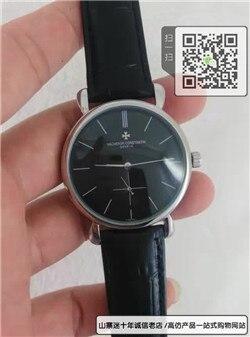 复刻版江诗丹顿自动机械男表真皮表带精钢表39MM☼