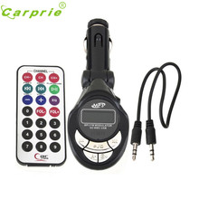 New Arrival Car MP3 Player Wireless FM Transmitter Modulator USB SD CD MMC Remote XRC car-styling