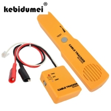 kebidumei Handheld Telephone Cable Tracker Phone Wire Detector RJ11 Line Tester Portable Tool Kit Tracer Receiver
