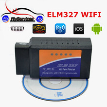 2017 High Quality New Desigh ELM327 WIFI Auto Diagnostic Tool OBD2 WIFI ELM 327 Scanner Wireless Elm327 Supports IOS System