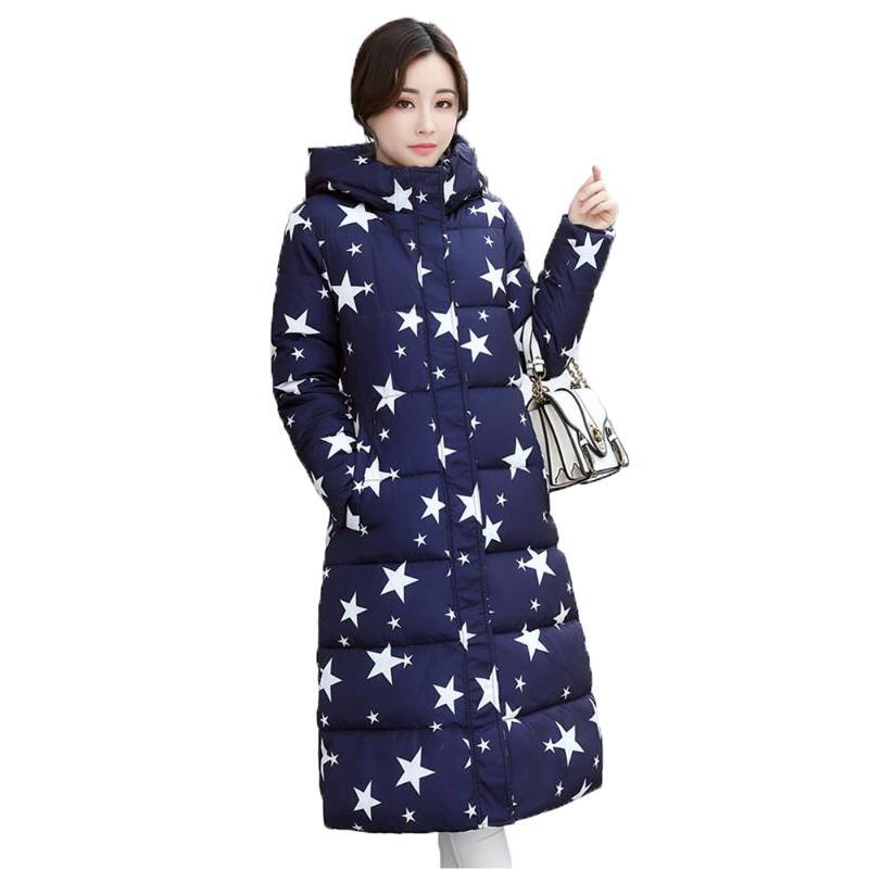 Winter Jacket Women 2017 Fashion Character Printed Thick Warm Female Hooded Cotton Jacket Coat Parkas Jaqueta Feminina InvernoÎäåæäà è àêñåññóàðû<br><br>