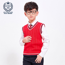 Buy Boy Sweaters Cotton Top Warm Vest Knitting Kids Clothes Children Spring Autumn Vest Sleeveless Clothing V-Neck Vest 1023 1024 for $15.80 in AliExpress store