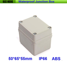 Free Shipping 1 Piece Mini Type IP66 ABS Grey Waterproof PCB Plastic Enclosures 50*65*55mm(China)