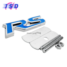 Car Styling Sticker Front Grille Emblem Badge  for Blue RS Logo for Audi Acura BMW Cadillac Chevrolet Citroen Ferrari Honda