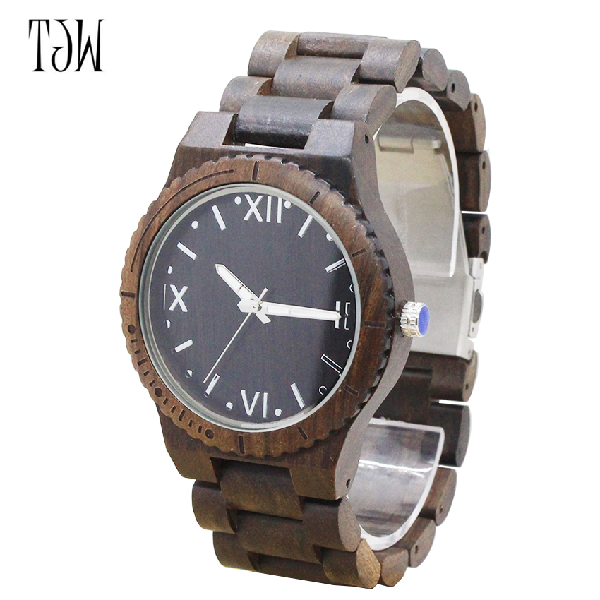 TJW 2018All ebony wood watch manufacturers clearance promotional gifts wooden watch<br>