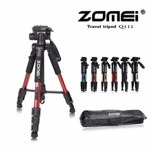 New Zomei Q111 Professional Aluminium Tripod Camera Accessories Stand with Pan Head for Dslr(China)