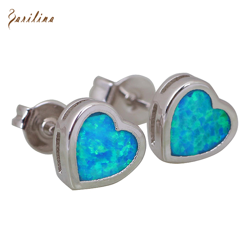 2017 Special Offer Romantic Women Heart Earings Ocean Melody Jewelry Fire Stud Earrings Woman Fashion Buy Direct From E090(China)