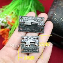 1 inch antique wooden gift box hinge  printing packaging hinge zinc alloy hinge 26 * 23MM