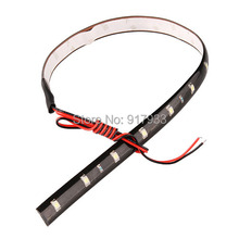 30 pcs 30CM led strips 3528 patch car 1210 smd 15 LED strip chassis soft article lamp traffic wheel light White red blue yellow