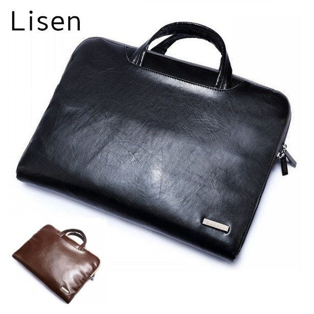 Leather Handbag For Laptop 11,13,15 Sleeve Case Bag For MacBook AIR/PRO 13.3,15.4,Notebook 15.6 inch,Free Drop Ship HB05<br><br>Aliexpress