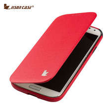 Jisoncase Luxury Microfiber Leather Case For Samsung Galaxy S4 I9500 100% Handmade Flip Design Brand Cover for Samsung S4 Case