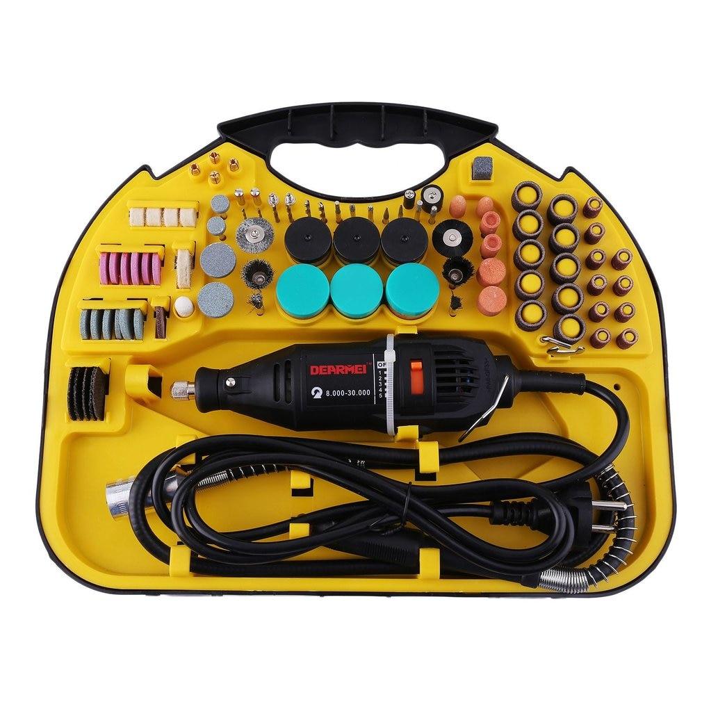 2017 211pcs/set Professional Electric Mini Engraving Machine Die Grinder Power Tool Set EU Plug For Milling Polishing Drilling<br>
