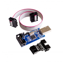 2 PCS =1PC SBASP USB AVR Programmer for Atmel USB ASP USBISP ISP Bootloader NEW+ 1PC 10PIN TO 6PIN ADAPTER