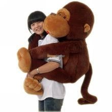 Fancytrader 2015 New 51'' / 130cm Super Cute Soft Giant Plush Animal Gorilla Toy, Cute Decoration Toy, Free Shipping FT50126