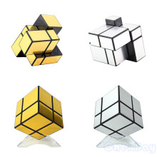 Shengshou 2x2x2 Magic Mirror Cube Blocks 5.7cm Skewb Speed Magic Puzzle Cube 2x2 Cubo Magico with Mirror Sticker Education Toys