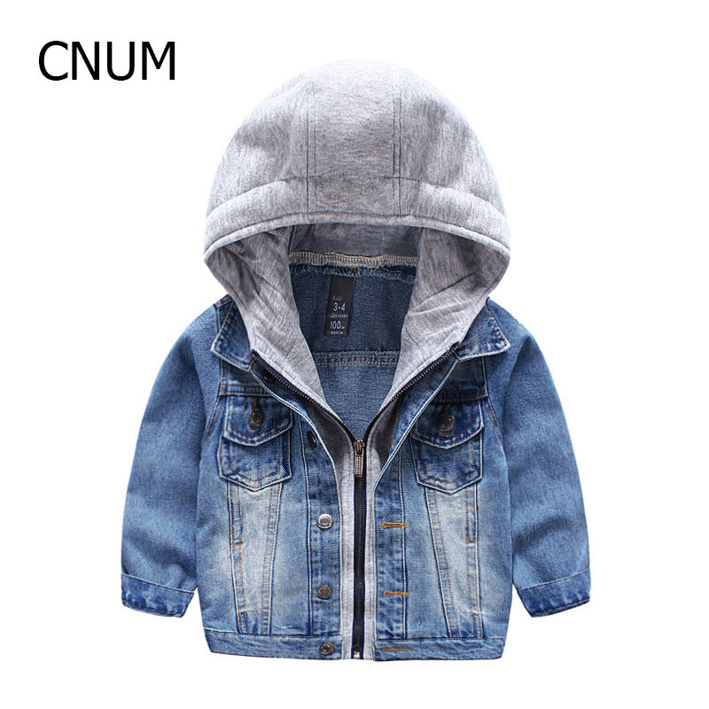 2017 Childrens Clothing for Spring Boys Outfits Oxford Brand Childrens coat jackets Denim Blue Boys Jacket Hooded Outwears Kid<br><br>Aliexpress