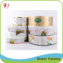 Customized   Print honey packaging label,adhesive custom label manufacturer