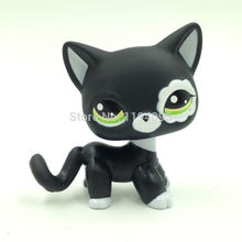 PET Shop Collection LPS Figure For Girl Children Black Short Hair Cat #2249