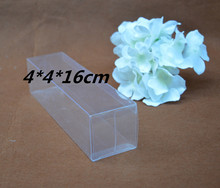 Qi Size:4*4*16cm 10pcs/lot Clear Gift Display PVC Packaging Box Transparent Plastic Pack Box For Jewelry/Craft/Bottle/Cosmetic
