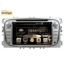 NAVITOPIA 1024*600 16G Android 5.1.1 Car Radio for Ford Focus 2008-2011 for Ford Mondeo 2008-2011 /S-MAX /Connect Silver DVD