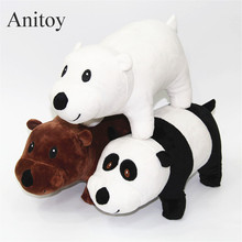 3pcs/lot We Bare Bears Grizzly Panda Ice Bear Soft Stuffed Dolls Cute Plush Toys Kids Christmas Gift 22/45cm AP0488