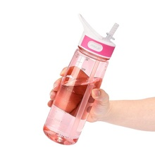 bottled joy 800ml straw drink water bottle Tritan bpa free cute water bottles kids with Handle and my gym Plastic bottle(China)
