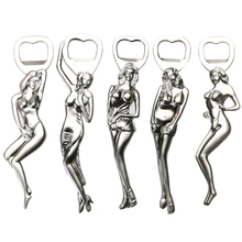 Stainless Steel Sexy Girl Bottle Opener Portable Ring Bikini Beer Opener Bar Party Bottle Openers Kitchen Tools E5M1(China)