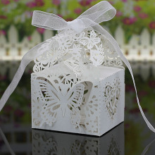 20PCS Laser Cut 3D Romantic Butterfly Gift Wedding Candy Box Wedding Decoration Wedding Favor Boxes Gift Box(China)