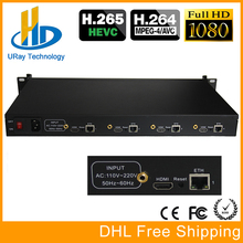 URay 4 Channels HEVC H.265 HDMI To IP Encoder Transmitter Live Streaming Encoder IPTV H264 Network Video IP Encoder RTMP Server(China)