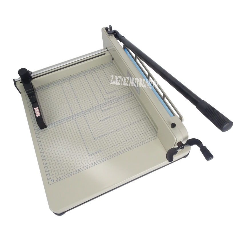 "1PC Paper Trimmer 12"" YG 858-A4 Heavy Duty Industrial Guillotine 200 Sheet Normal Paper Cutter Cutting width 31CM"