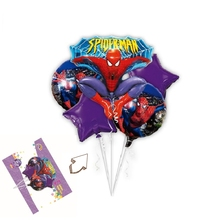 5pcs/lot super hero shape spiderman party foil balloon kids birthday gift mylar helium balloon Centerpieces Decoration(China)
