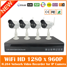 Buy 2016 4ch Full Hd 1080p H.264 Network Video Recorder + 4pcs Outdoor Wifi Wireless 1280*960p Ip Camera Security Surveillance Kit for $131.95 in AliExpress store