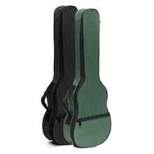 Zebra Soft Black Green Carry Ukulele Case Box Acoustic Guitar Bag With Shoulder Straps For Musical Instruments Parts Accessories