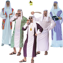Hot New Men Arab Costume Middle East Costume Robe Adult Clothes Halloween Carnival Cosplay Costumes Fancy Dress Party Decoration