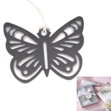 SOSW-UK New Silver Butterfly Bookmark Marker Xmas Stocking Filler Favour Gift Boxed
