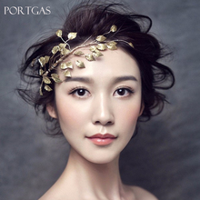 Retro Personality Baroque Headband wedding hair decoration bridal hair Pins Retro Gold Leaf crown tiara headpiece leaves Jewelry