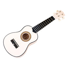 High quality professional musical instruments children guitar toys 21 vocal 4 strings white bass guitar puzzle toys musical toys