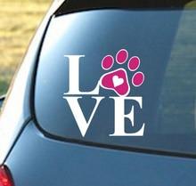 1pc Love dog Stickers Decal Car Styling vw Nissan JUKE audi audi skoda ford bmw e46 Benz renault opel car accessories