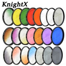 Buy KnightX 24 color ND filter sony nikon canon sony a6000 circular graduated photo eos lens 49MM 52MM 55MM 58MM 67MM 77MM STAR for $2.52 in AliExpress store