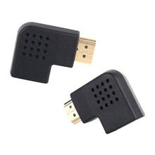 1Pcs 1080P Right/Left Angle 90 Degree Male To Female HDMI HDTV Adapter Converter Connector(China)