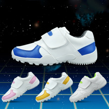 CRESTGOLF Durable Golf Children Shoes Sneakers Breathable Soft Shoes Golf Kids Shoes Outdoor Sport Running Antiskid Shoes(China)