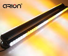 "Amber White 900MM 35"" 72 LED Traffic Advisor Warning Strobe Work Emergency Light Bar Grille Beacon Lights Lighting Lamp"