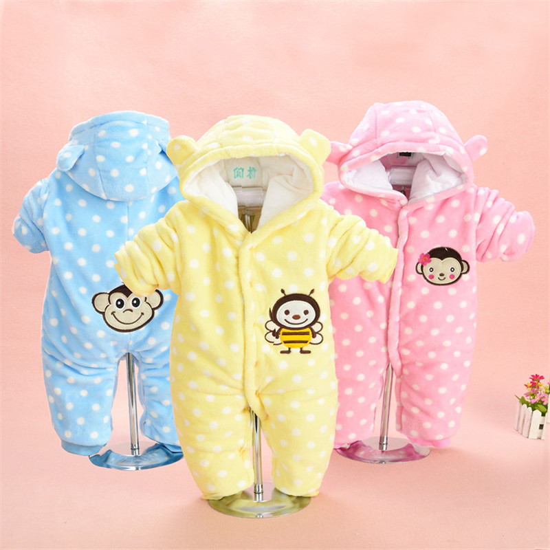 Autumn &amp; Winter Baby Clothes Baby Coral Fleece Newborn Clothing Romper Hooded Sleepwear ATLL0087<br><br>Aliexpress